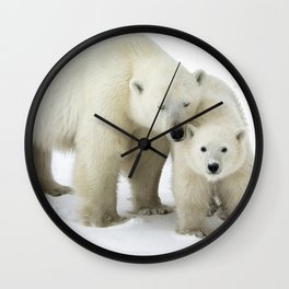 Mother and Cub Wall Clock