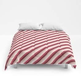 Pomade Tones Inclined Stripes Comforters