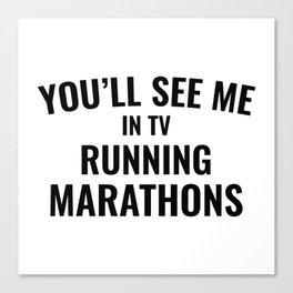 TV Running Marathons Canvas Print
