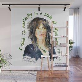 Patti Smith by dotsofpaint studios Wall Mural