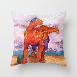 Beach Ball Dinosaur - Barney Throw Pillow