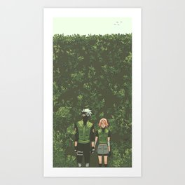 Babes in Bushes Art Print