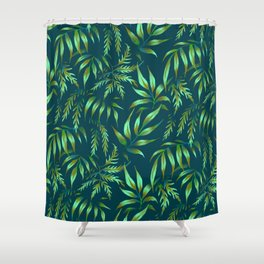 Brooklyn Forest - Green Shower Curtain