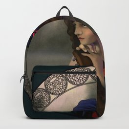 Art Nouveau Guitarist Backpack