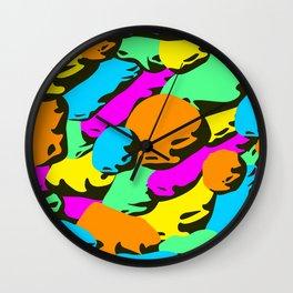 stone colorful pattern. Wall Clock