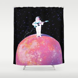 Space oddity Shower Curtain