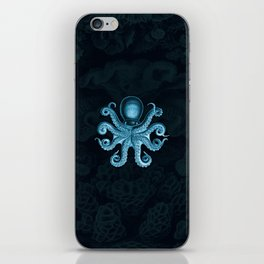 Octopus2 (Blue, Square) iPhone Skin