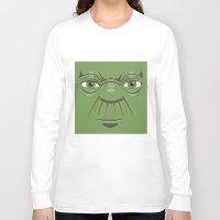 starwars Long Sleeve T-shirts featuring Yoda - Starwars by Alex Patterson AKA frigopie76