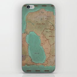 Map of Dereth //Asheron's Call iPhone Skin