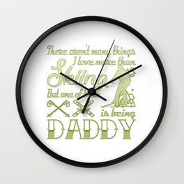 Skiing Daddy Wall Clock