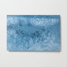 Abstraction Frosty pattern Glass Frost Macro Metal Print