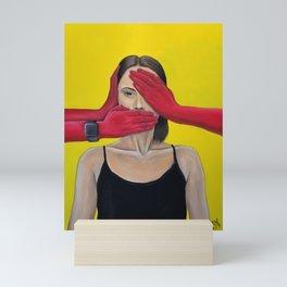 See no evil, hear no evil, speak no evil  Mini Art Print