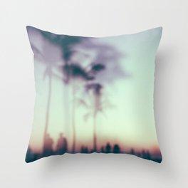 Hazy sunsets Throw Pillow