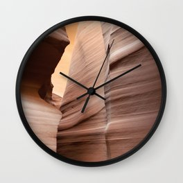 Movement in Lower Antelope Canyon Wall Clock