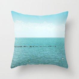 Landscape photo - black sea Throw Pillow