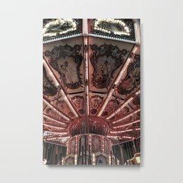 Carousel (Red) Metal Print