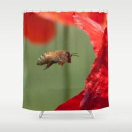 The Levitating Bee Shower Curtain