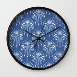 Light dreams. Blue Deco. No. 1. Wall Clock