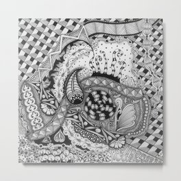 Zentangle®-Inspired Art - ZIA 22 Metal Print