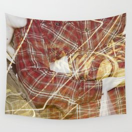 Plaid Hands and Converse Feet Wall Tapestry
