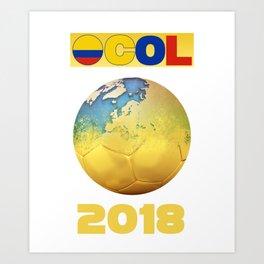 Colombia 2018 Art Print