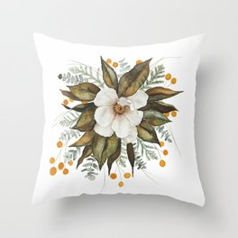 Magnolia Bouquet Throw Pillow