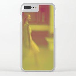 Walking woman Clear iPhone Case