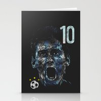 messi Stationery Cards featuring Messi by dan elijah g. fajardo