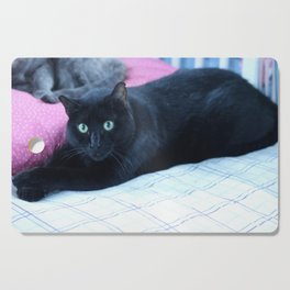 Spooky the Black Feral Halloween Sanctuary Cat Cutting Board
