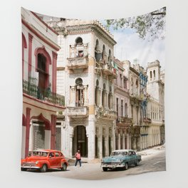 The Streets of Havana Wall Tapestry