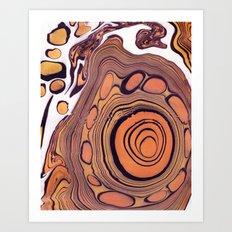 Suminagashi 07 Art Print
