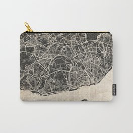 lisbon map ink lines Carry-All Pouch