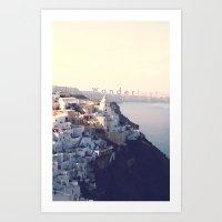 Wanderlust (Santorini) Art Print