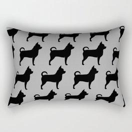 Chihuahua Silhouette Rectangular Pillow