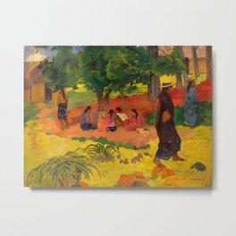"Paul Gauguin ""Taperaa Mahana (Late Afternoon)"" Metal Print"