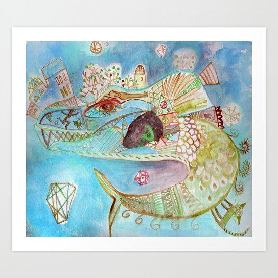 blue universe Art Print