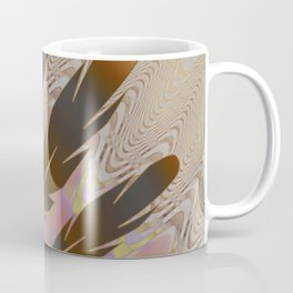 Boho Feather Sun and Wavy Lines Coffee Mug