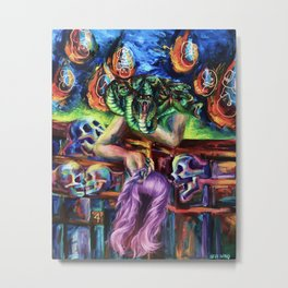 """Medusa's Grief"" Painting Metal Print"