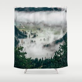 The Mist Descends Shower Curtain