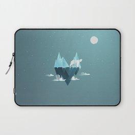 Low Poly Polar Bear Laptop Sleeve