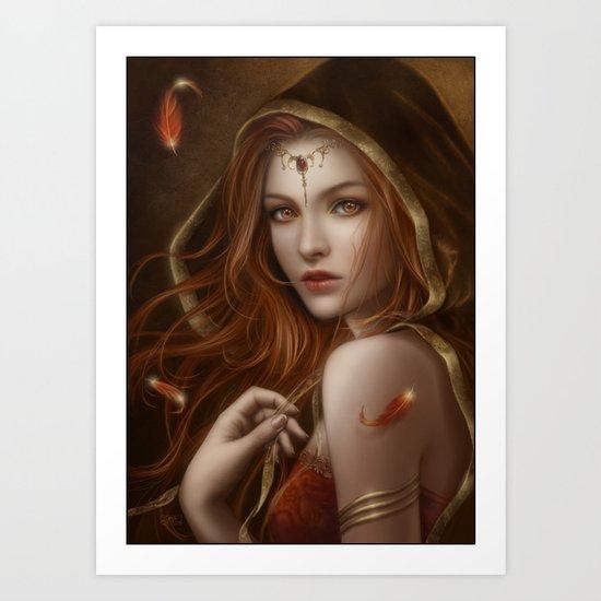 Red path of eternity Art Print