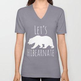 Polar Bear Let's Hibearnate Unisex V-Neck