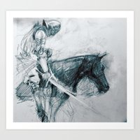 Knight : Early Concept Sketch (KIN film) Art Print
