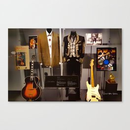 Stevie Ray Vaughan Exhibit - Family Style Canvas Print