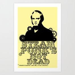 Darwin was a punk Art Print