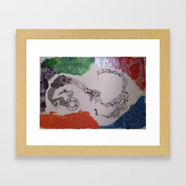 To the ends of the earth Framed Art Print