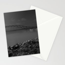 Julian Dubuque Bridge and the Mississippi River Stationery Cards