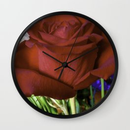 For Love Of The Red Rose Wall Clock
