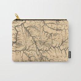 1784 Kentucky map by John Filson Carry-All Pouch