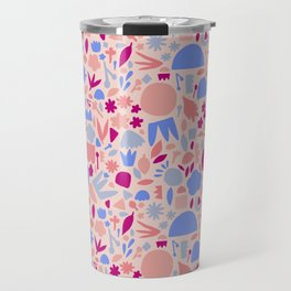 Geometric flowers Travel Mug